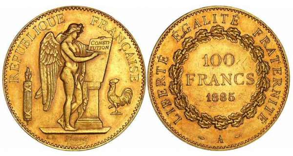 100 francs Gnie - 1885 A (Paris)