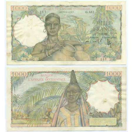 Afrique occidentale - 1000 francs