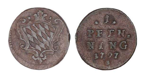 Allemagne - Bavaria - Karl Theodor - 1 pfenning 1797