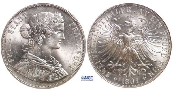 Allemagne - Double taler 1861