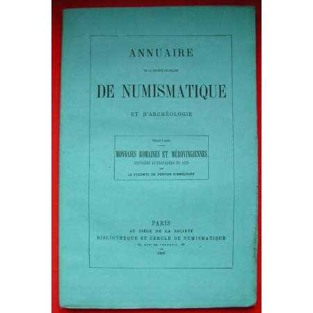 Annuaire Numismatique - Monnaies romaines et Mro 1880