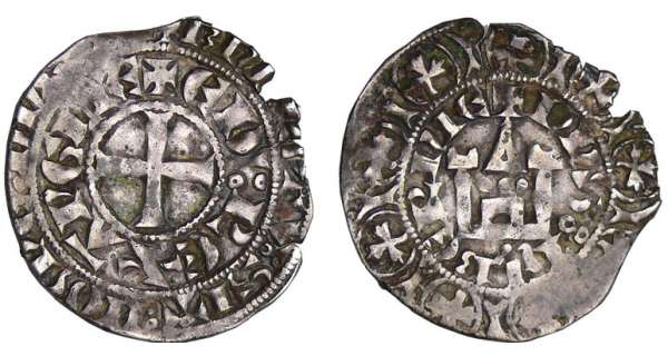 Aquitaine - Edouard II - Maille blanche
