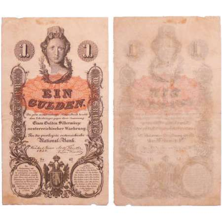 Autriche - Privilegirte Oesterreichische National -Bank - 1 gulden 01.01.1858