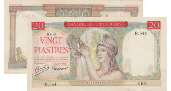 Banque d'Indochine - 20 piastres ND (1949)