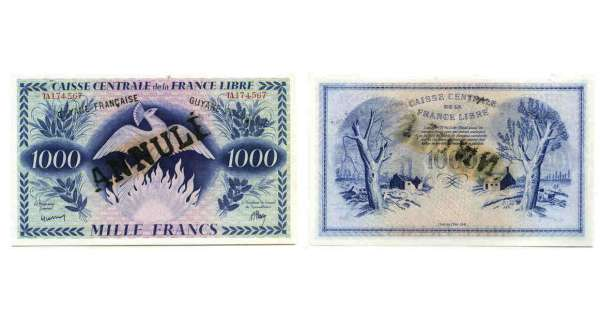 Billet de 1000 francs - Type 1943