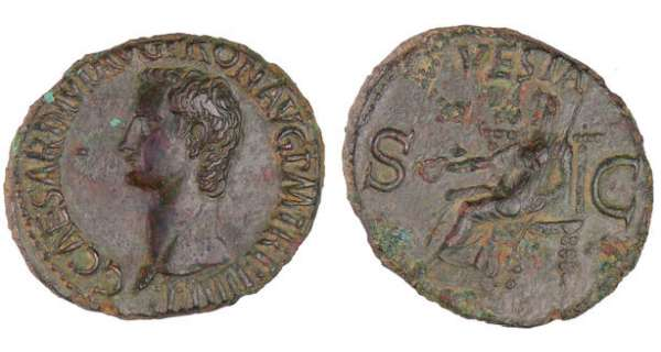 Caligula - As (37-38, Rome) - Vesta