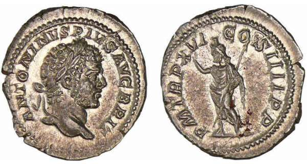 Caracalla - Denier (212, Rome) - Srapis