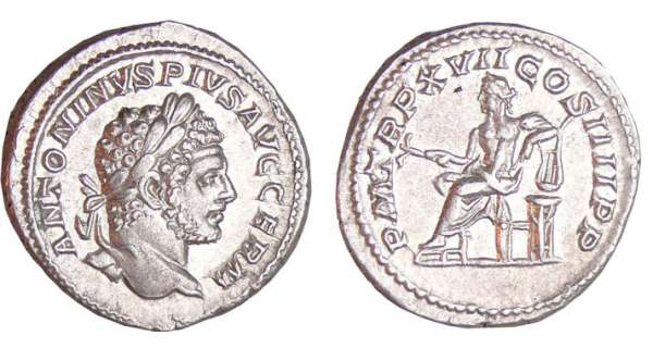 Caracalla - Denier (214, Rome) - Apollon