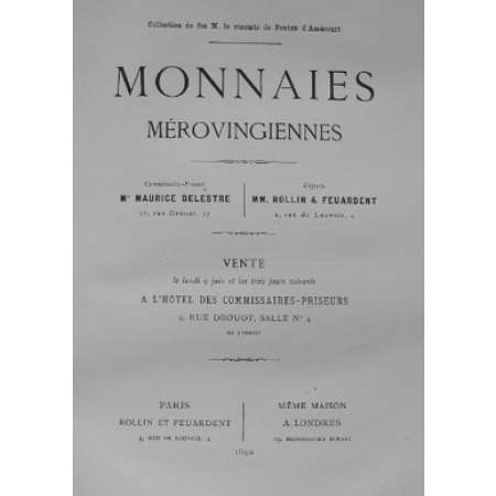 Catalogue de la Collection D'Amcourt Mrovingiennes - 1890