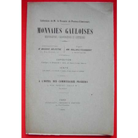 Catalogue Collection D'Amécourt - Monnaies gauloises - 1886