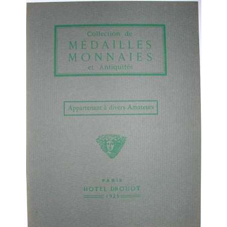 Catalogue Collection de mdailles et de monnaies - 1925