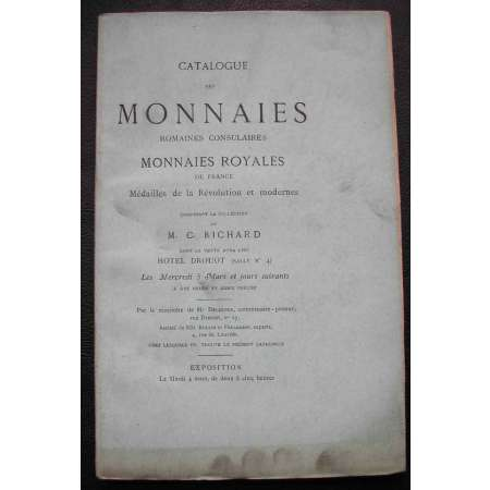 Catalogue de la collection C. Richard Monnaies Royales