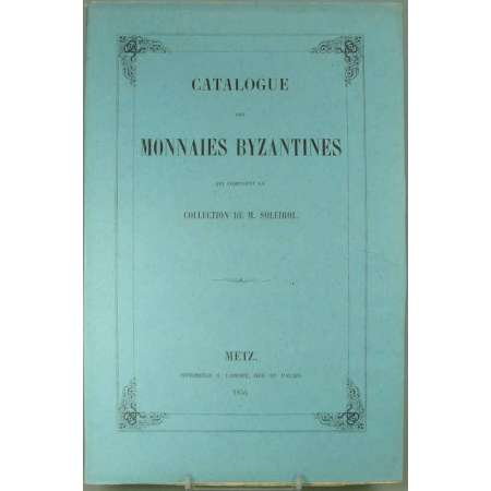 Catalogue de monnaies byzantines - 1854
