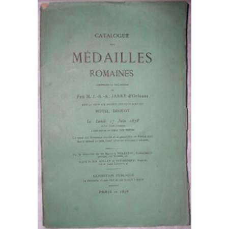 Cataloque de monnaies romaines de la vente Jarry d'orlans - 1878