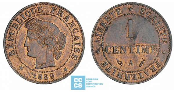 1 centime Cérès - 1889 A (Paris)