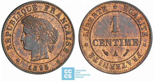 1 centime Cérès - 1895 A (Paris)