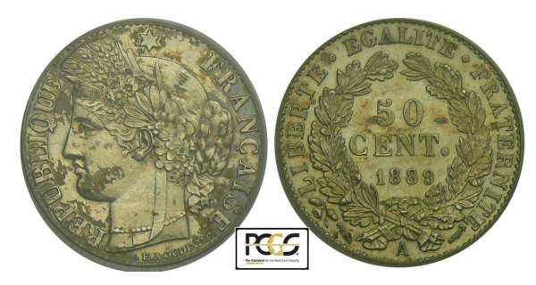 50 centimes Cérès - 1889 A (Paris)