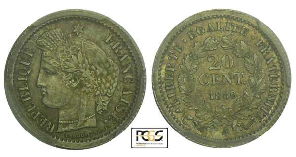 20 centimes Cérès - 1889 A (Paris)