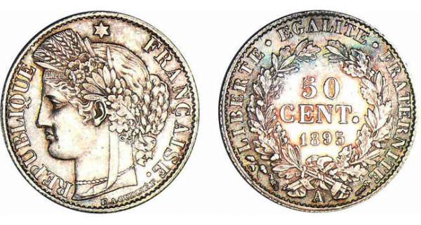 50 centimes Cérès 1895 A (Paris)
