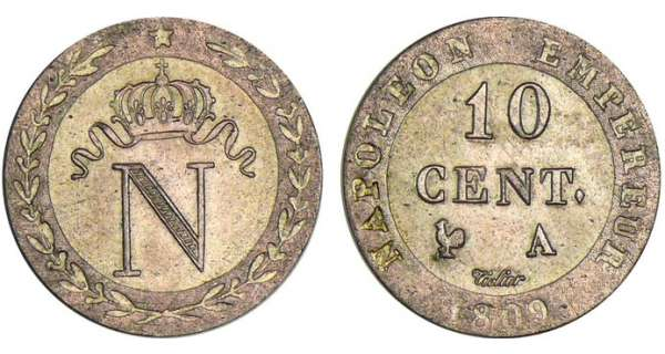 10 centimes Napolon Ier - 1809 A (Paris)