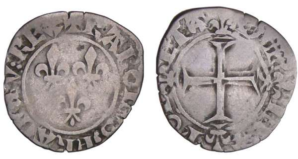 Charles VI (1380-1422) - Double tournois - 2me mission - Saint-Pourain