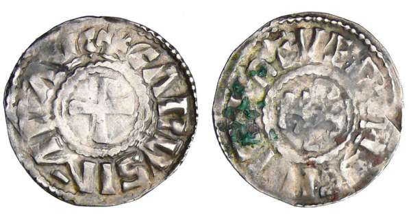 Charles II Le Chauve (840-877) - Denier (Nevers)