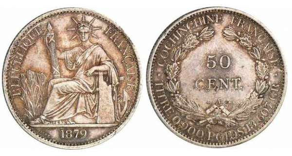 Cochinchine - 50 cent 1879 A (Paris)