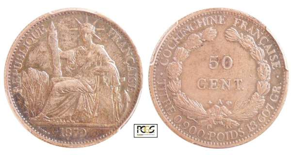 Cochinchine - 50 cent 1879 A