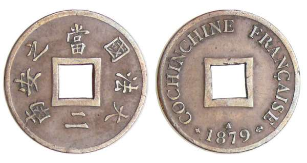 Cochinchine - Sapèque - 1879 A (Paris)