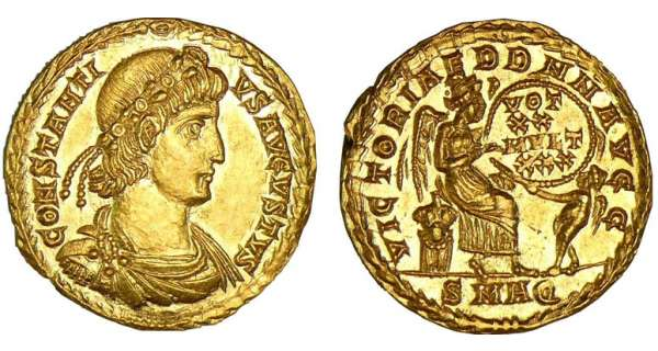 Constance II - Solidus (340-350, Aquila) - La Victoire