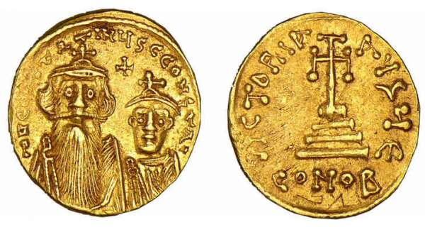 Constans II - Solidus (641-668, Constantinople)
