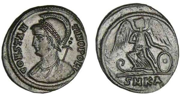 Constantin 1er - Nummus (330-333, Sisica) - La Victoire