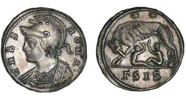 Constantin 1er - Nummus (330-333, Sisica) - Louve