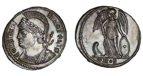 Constantin 1er - Nummus (330-333, Trves) - La Victoire