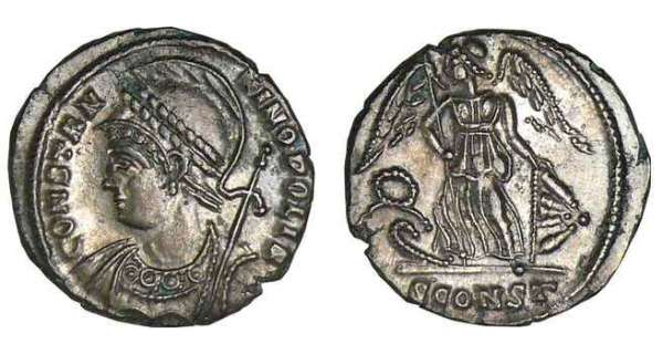 Constantin 1er - Nummus (330-333, Arles) - La Victoire