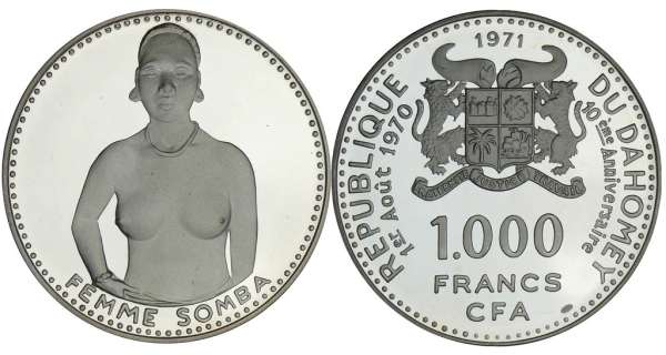 Dahomey - 1000 francs 1971