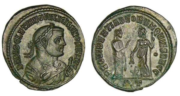 Diocltien - Follis (305-307, Ticinum) - La Providence