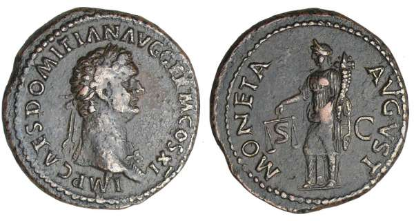 Domitien - As (85, Rome) - La Monnaie