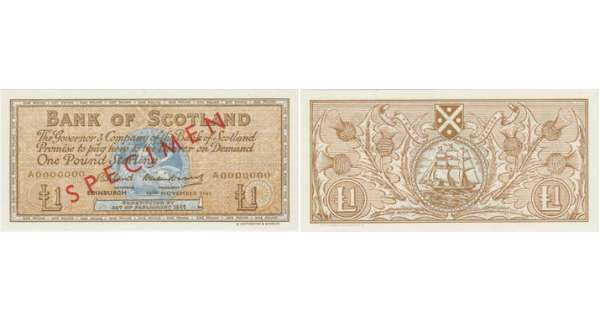 Ecosse - Bank of Scotland, 1 pound, 16th November 1961