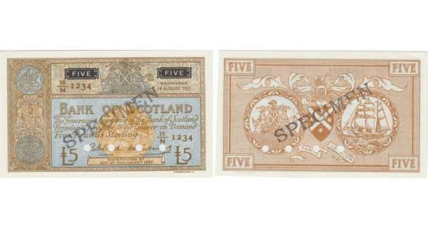 Ecosse - Bank of Scotland, 5 pounds, 14th August 1962