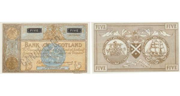 Ecosse - Bank of Scotland, 5 pounds, SD