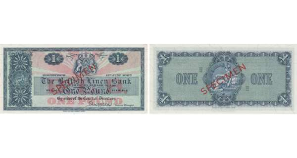 Ecosse - The British Linen Bank, 1 pound, 13th June 1967