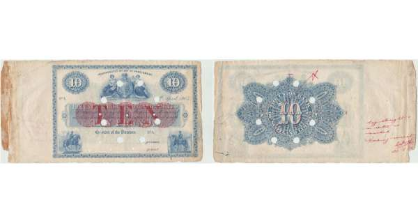 Ecosse - The Union Bank of Scotland, 10 pounds, 4th April 1905
