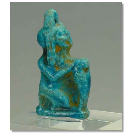 Egypte - Amulette en fritte bleue - 663-332 av. J.-C.