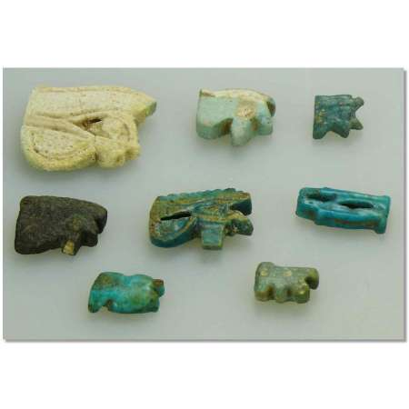 Egypte - Lot d'amulettes d'il oudjat - 663-332 av. J.-C.