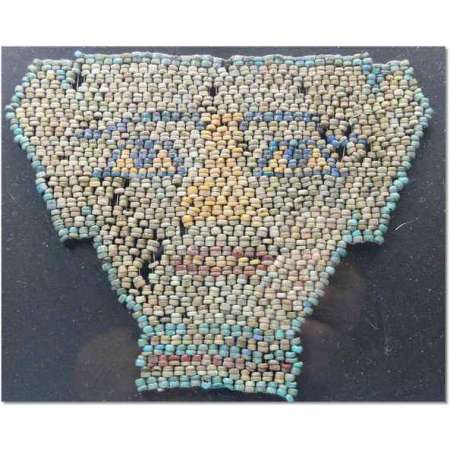 Egypte - Masque en perles - 663-332 av. J.-C.