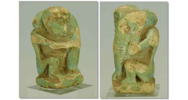 Egypte - Statuette phallique en fritte - 663-332 av. J.-C.