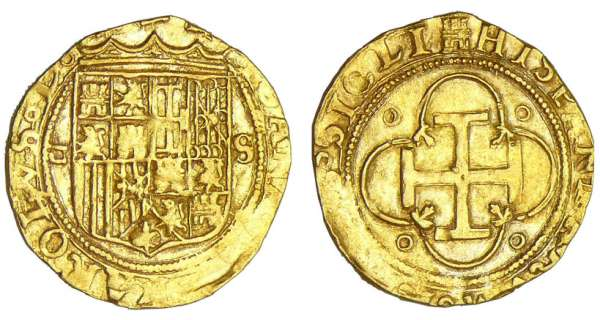 Espagne - Jeannes et Charles - Escudo d'or (Sville)