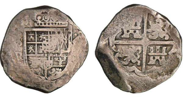 Espagne - Philippe IV - 8 reales (Séville) Philippe IV (1621-1665).