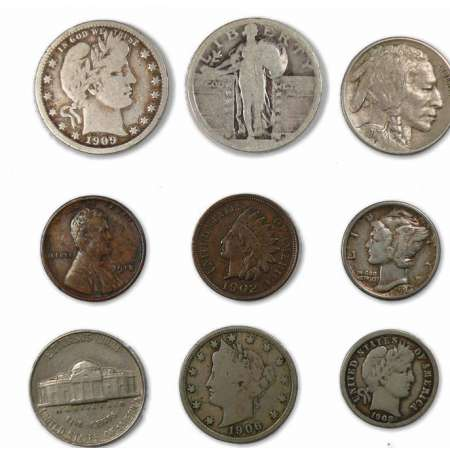 Etat-Unis - lot of 9 coins